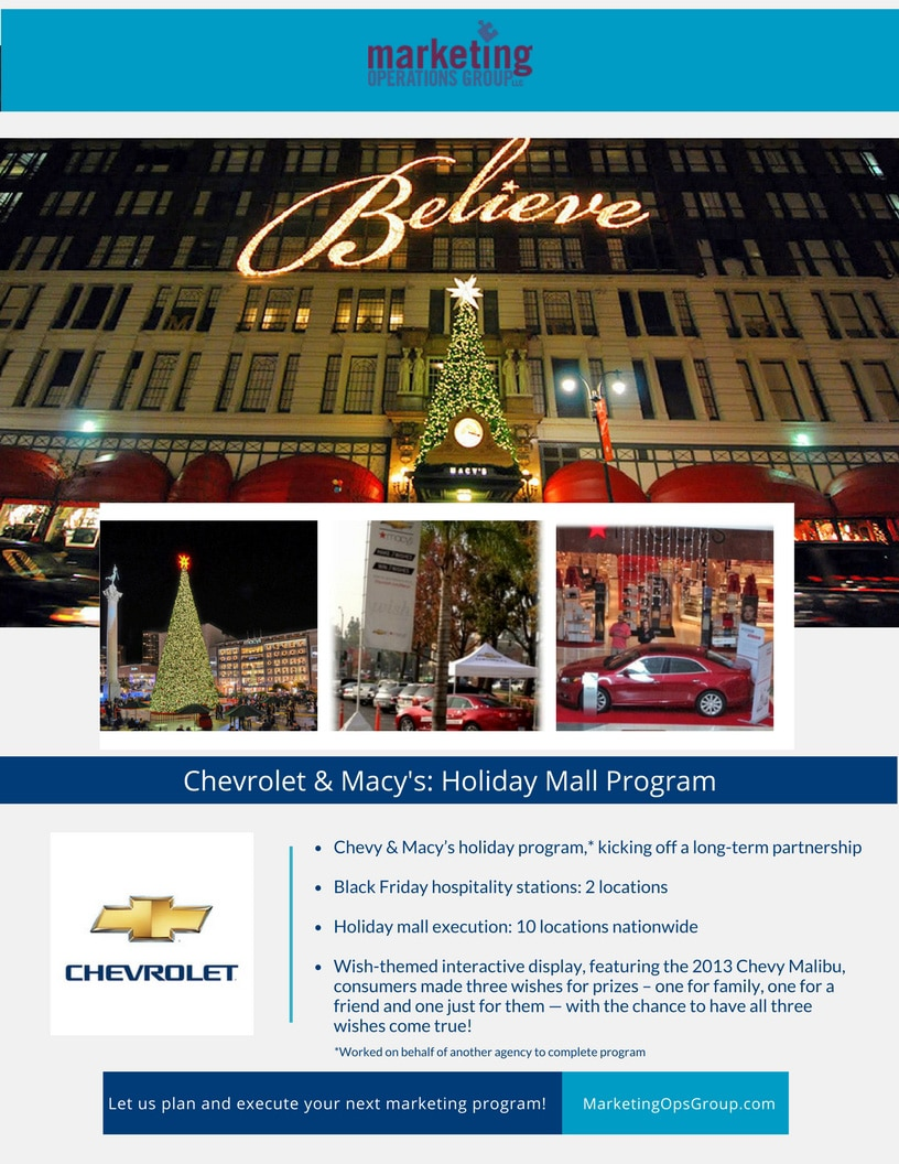 Chevrolet-Macy's-Holiday Mall Program Case Study