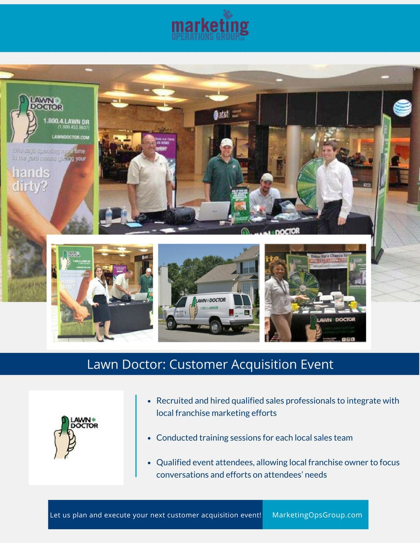 Lawn Doctor Customer Acquisition Event Case Study