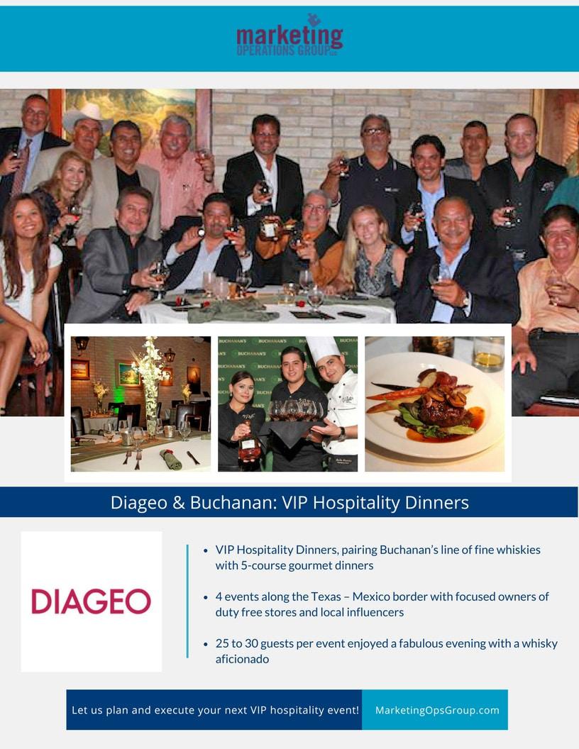 Diageo - Buchanan VIP Hospitality Case Study