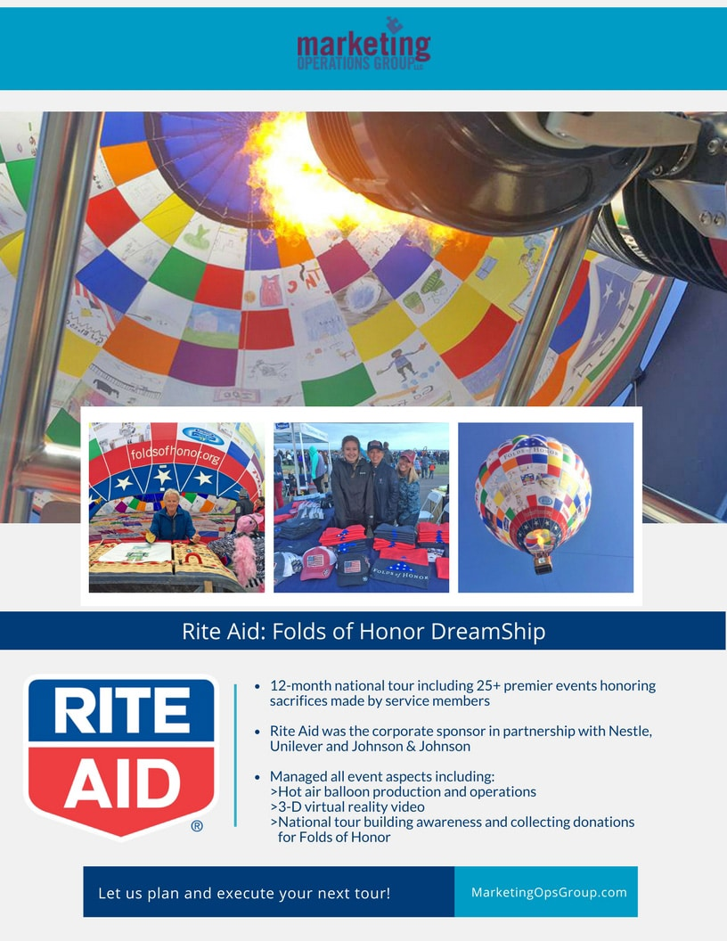 Rite Aid - Folds of Hope, hot air balloon experiential marketing