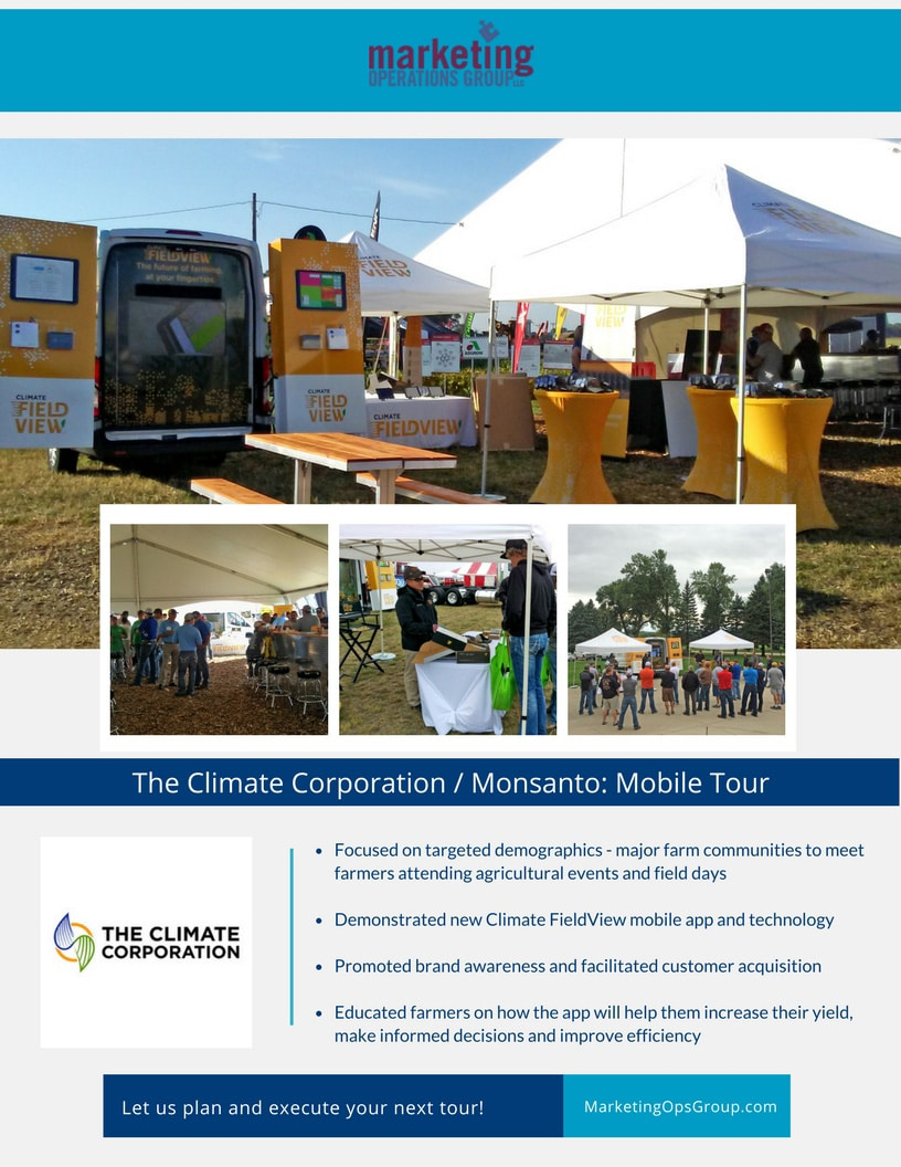 The Climate Corporation Mobile Tour - experiential marketing