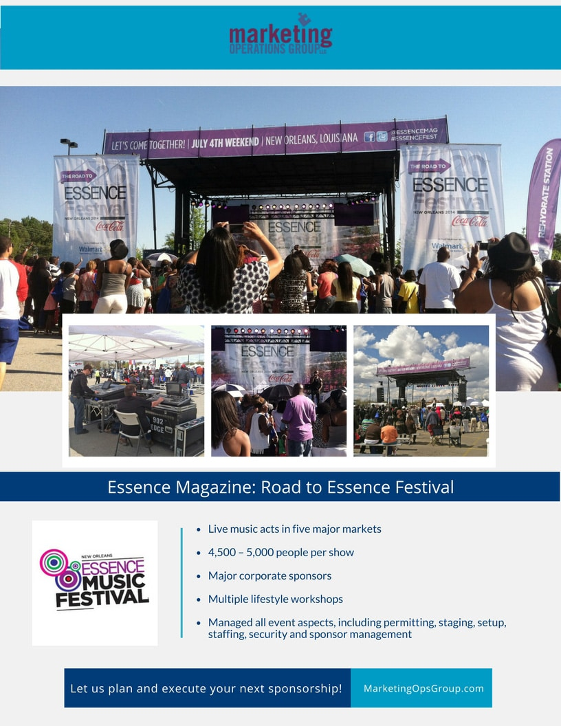 Essence Music Festival Sponsorship Case Study