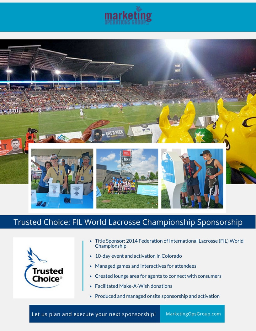 Trusted Choice - FIL Lacrosse Sponsorship Case Study