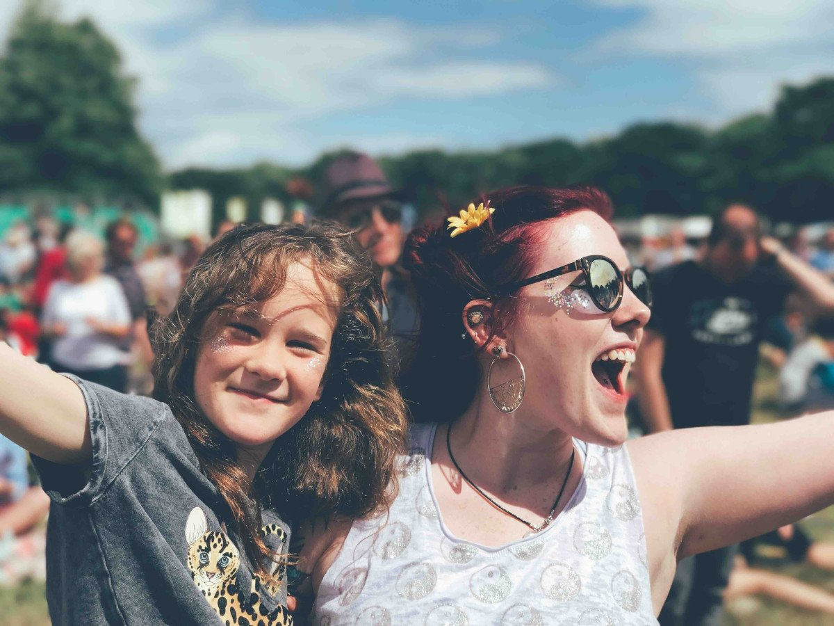 Happy Mother and Daughter at Festival   MOGXP